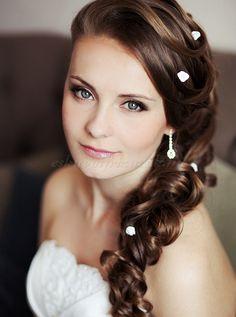 fonott menyasszonyi frizurák, fonott esküvői frizura - fonott menyasszonyi frizura