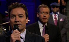 Jimmy Fallon, Brian Williams & The Roots slow jam the news - LOL LOL