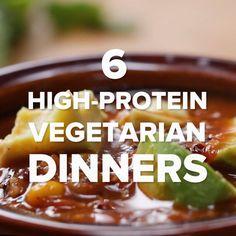 6 High-Protein Vegetarian Dinners // #vegetarian #protein #healthy #highprotein #dinner