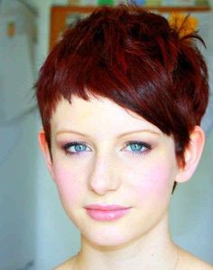 pixie with asymetric fringe