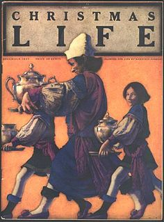 Life magazine Christmas cover by Maxfield Parrish, December 1922 Life Magazine, Magazine Art, Magazine Covers, Herald Square, Maxfield Parrish, Life Cover, Christmas Cover, American Illustration, Alphonse Mucha