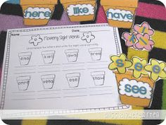 Flowery Sight Words- unscrambling and building sight words
