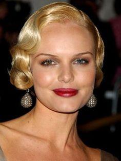 "Kate Bosworth rocks the ""finger waves""."