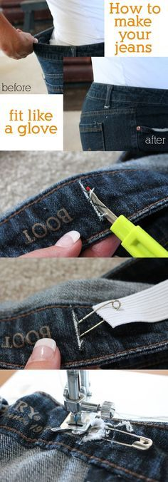 Pants don't fit right in the waist? It happens to all of us! This super simple trick actually helps finally get you the perfect fit.