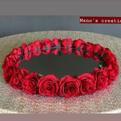Floral plate for different rasams.you can also customised the colours of flower.or you can also take it with original or artificial flower. DM us for order or further details. Desi Wedding Decor, Wedding Vases, Wedding Crafts, Red Wedding, Diy Cake Stand Wedding, Wedding Bride, Cake Roses, Rose Cake, Thali Decoration Ideas