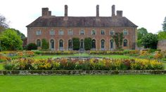 Strode House, Somerset, England by Barrington Court, Old Houses, Manor Houses, Somerset England, Special Images, Formal Gardens, Holiday Apartments, Pond, Britain