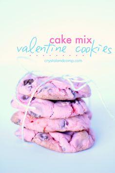 Cake mix valentine cookies