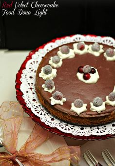 Awesome and low fat -Healthy, low calorie and fat Dessert -  Red Velvet Cheesecake www.fooddonelight.com