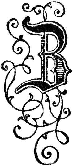 Decorative Letters Clip Art  Letters    Clip Art