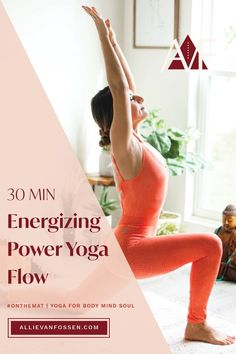 Awaken and energize your body, mind + soul with a 30 minute yoga flow! Want a pick-me-up that doesn't leave you jittery? This yoga practice enlivens your breath, taps into your endorphins and chases away fatigue and afternoon slumps, so you can continue your day from a centered, calm and grounded state. Unroll your mat yoga fam, it's time to energize your day with me! Allie, xx #yogaforenergy #energizingyogaflow #30minpoweryoga #allievanfossen Yoga Inversions, Vinyasa Yoga, Yoga Arm Balance, 30 Minute Yoga, Free Yoga Classes, Bedtime Yoga, Gentle Yoga, Advanced Yoga, Yoga Dance