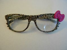 hello kitty glasses  I am, actually a little bit in love with these...