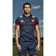 Maillot Rugby Performance France Domicile Adulte 2016-2017 / adidas
