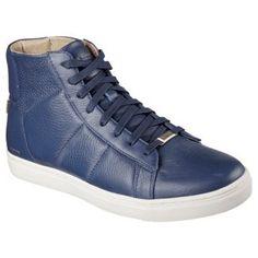 Mark Nason Skechers Culver Memory Foam High Top Sneaker Navy Leather