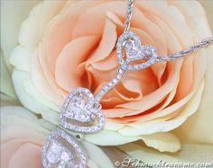 Diamanten Brillanten Herz Anhänger, Weißgold 750