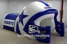 Cowboys' Inflatable Football Helmet Sports Tunnel #cowboy #dallascowboys #NFL #inflatables