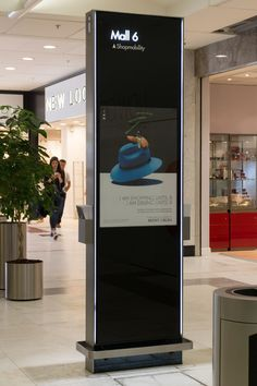 One of seven high end smart and stylish interactive wayfinding totems situated in Brent Cross Shopping Center. Featuring an interactive touchscreen the totems are used as information points in addition to wayfinding. Designed, manufactured and installed by 10 Squared.