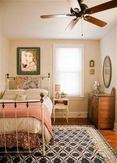 Girly Bedroom Decor, Cute Bedroom Ideas, Decoration Bedroom, Stylish Bedroom, Small Room Bedroom, Bedroom Vintage, Small Rooms, Girls Bedroom, Small Spaces