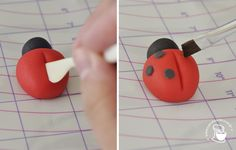 pa_joaninha5 Decorated Cupcakes, Fondant Cake Toppers, Pottery Classes, Cake Decorating Techniques, Polymer Clay Projects, Creative Art, Ladybug, Chocolate, Handmade