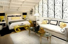 Grey White And Yellow Bedroom Luxurious Master In Gray With Black Ideas Design Modern Home