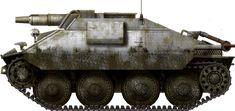 Rare Hetzer mit 7,5 cm KwK-37 L/23, Battle of the bulge, winter 1944-1945.