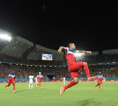 United States midfielder Clint Dempsey celebrates his goal against Ghana at the Word Cup finals in Brazil on June 16th, 2014. (Photo: Carl De Souza/Agence France-Presse--Getty Images)