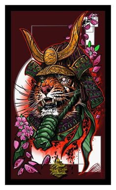 Tiger Samurai - Canvas - Damian Robertson | Frost Back Collective
