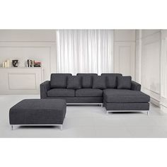 OSLO by Beliani Modern Fabric Upholstered Sectional Sofa | Overstock.com Shopping - The Best Deals on Sectional Sofas