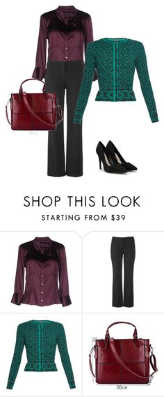 """""""В бургунди"""" by gerusm on Polyvore featuring мода, Massimo Rebecchi, maurices, Sophie Theallet и CHARLES & KEITH"""