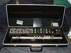 The Lyricon - The first wind (breath) controlled synthesiser, looking like a silver flute. Most prominently heard on 'Einstein A Go Go' by Landscape