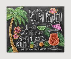 Recipe Art Chalk Art Kitchen Wall Decor Summer by LilyandVal