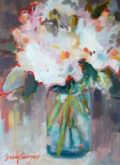 still life paintings - paintings by erin fitzhugh gregory #floral #botanical #art