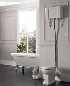 Victorian WC Traditional Square High Level Toilet excl. Seat