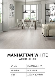 Manhattan is a premium wood effect tile available in two neutral shades; White and Pearl Wood Effect Porcelain Tiles, Wood Effect Tiles, Tiles London, Shower Screen, Pent House, Building Materials, White Wood, Wall Tiles, Manhattan