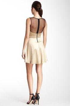 Sweetheart Studded Sheer Back Dress