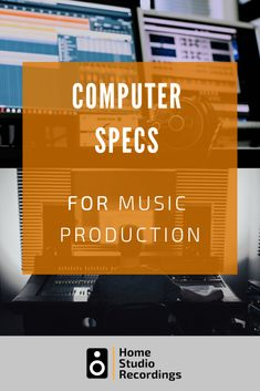 Learn the best music production computer specs to look for in a Mac or PC with this comprehensive guide to computer specs for music production. Computer Specs, Computer Music, Computer Setup, Best Music Production Software, Music Software, Music Production Computer, Home Recording Studio Equipment, Recording Studio Setup, Audio Studio