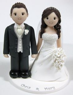 Bride and Groom Cake Topper: