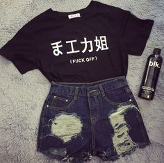 Harajuku Tshirt 2017 Summer Japanese Girls Printed Letters T-Shirts Casual Black White T Shirt Women Tops O-Neck Tee Shirt Femme