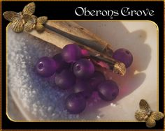 6mm frosted purple glass beads, 1mm hole 6mm gefrostete lila Glasperlen, Lochgröße: 1mm