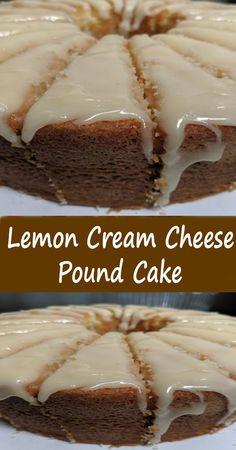 Lemon Desserts, Lemon Recipes, Easy Desserts, Sweet Recipes, Baking Recipes, Delicious Desserts, Cream Cheese Pound Cake, Pound Cake Recipes, Pound Cakes