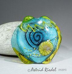 Art Glass Focal bead- lampwork by Astrid Riedel. $75.00, via Etsy.