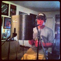 Austin recording in the Bat Cave. Gas Pumps, Cave, Caves