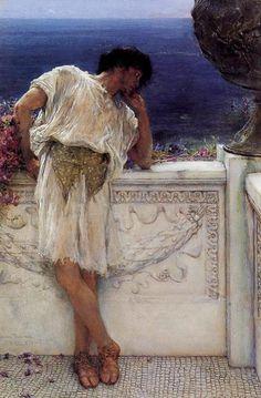 El Poeta Gallus sueña. Sir Lawrence Alma-Tadema, 1892. Colección privada.