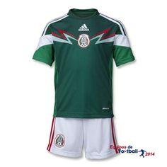 Nueva equipacion del Mexico ninos para Copa del mundo 2014