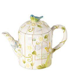 Mikasa Dinnerware, Antique Countryside Pear Figural Teapot:)