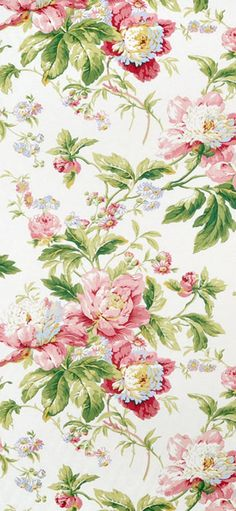 Waverly Forever Yours Spring Fabric #rose #pink