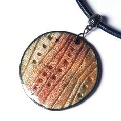 Hana Bendová - necklace (enamel on copper)