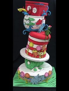 Another super elaborate Dr.Seuss Cake