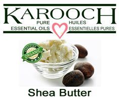 SHEA BUTTER Vitellaria paradoxa A solid fatty oil made from the nuts of Karite trees which grow in certain regions of West and Central Africa. It is used as a food and for body Diluting Essential Oils, Carrier Oils, Shea Butter, Body Care, A Food, Cell Regeneration, Organic, Breakfast, Sweet