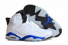 "competitive price 94e6d 8588a Buy New Air Jordan 6 Retro ""Sport Blue"" White Sport Blue-Black Online from  Reliable New Air Jordan 6 Retro ""Sport Blue"" White Sport Blue-Black Online  ..."