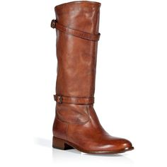 BELSTAFF Burnt Brown Shannon Flat Boots ($355) ❤ liked on Polyvore featuring shoes, boots, brown, brown boots, brown buckle boots, brown leather boots, slip on boots and low boots